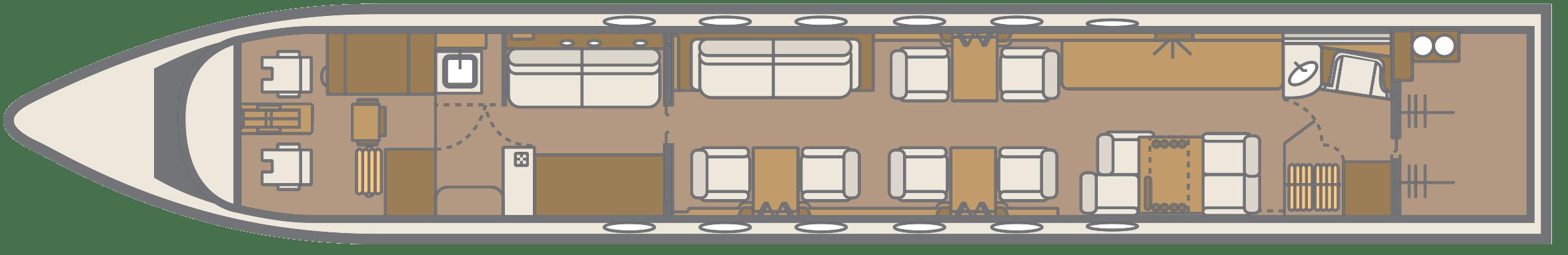 Gulfstream GV Floor Plan