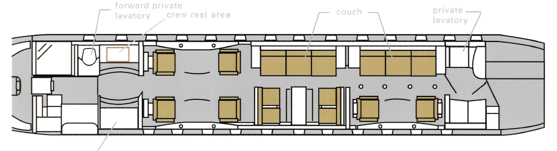 Global 6000 Floor Plan
