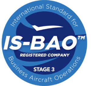 Private jet charter Sun Air Jets achieves IS-BAO Stage 3