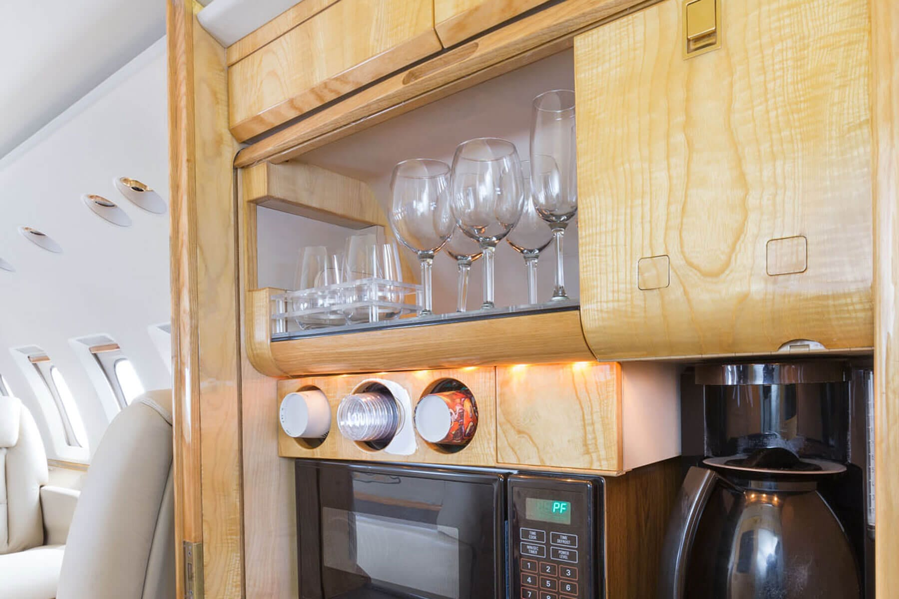 Kitchen Cabinets in Private Jet