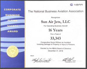 NBAA honors private flight operator