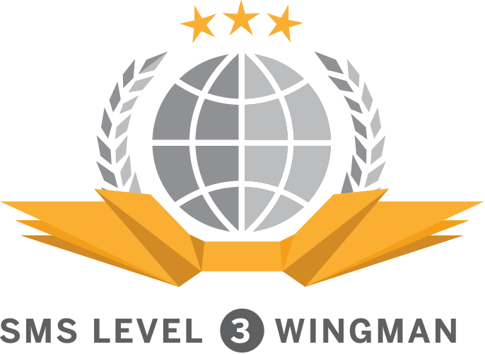 sms level 3 wingman wyvern badge