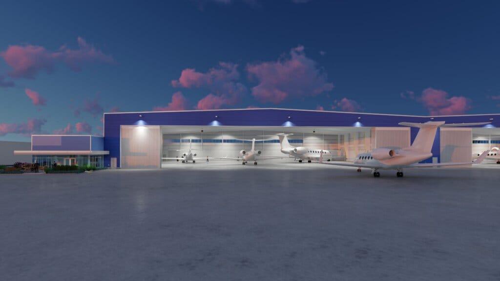 Sun Air Jets' new hangar space in Los Angeles