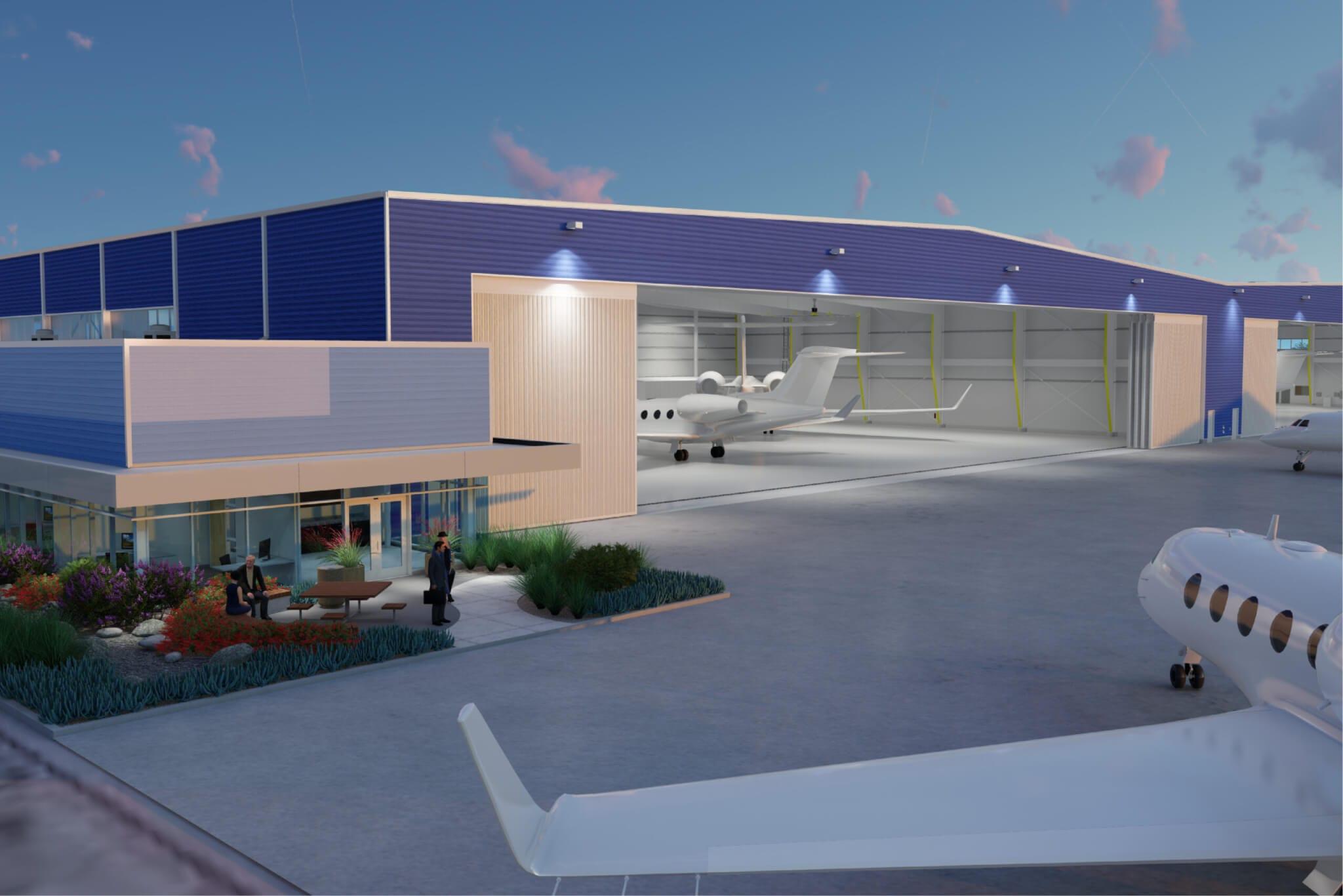 production locations | hangar at Van Nuys Airport